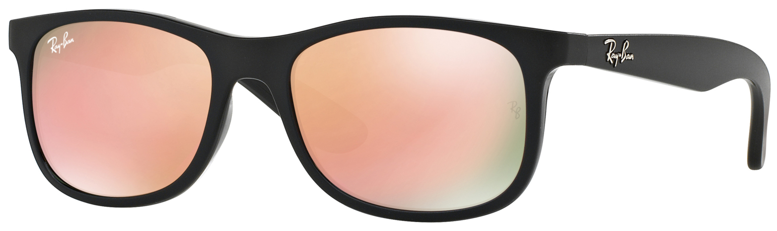 c13dc8cb04 Ray-Ban RJ9062S Kids Junior Sunglasses Black Copper Mirror RJ9062S 70132Y -  Optiwow