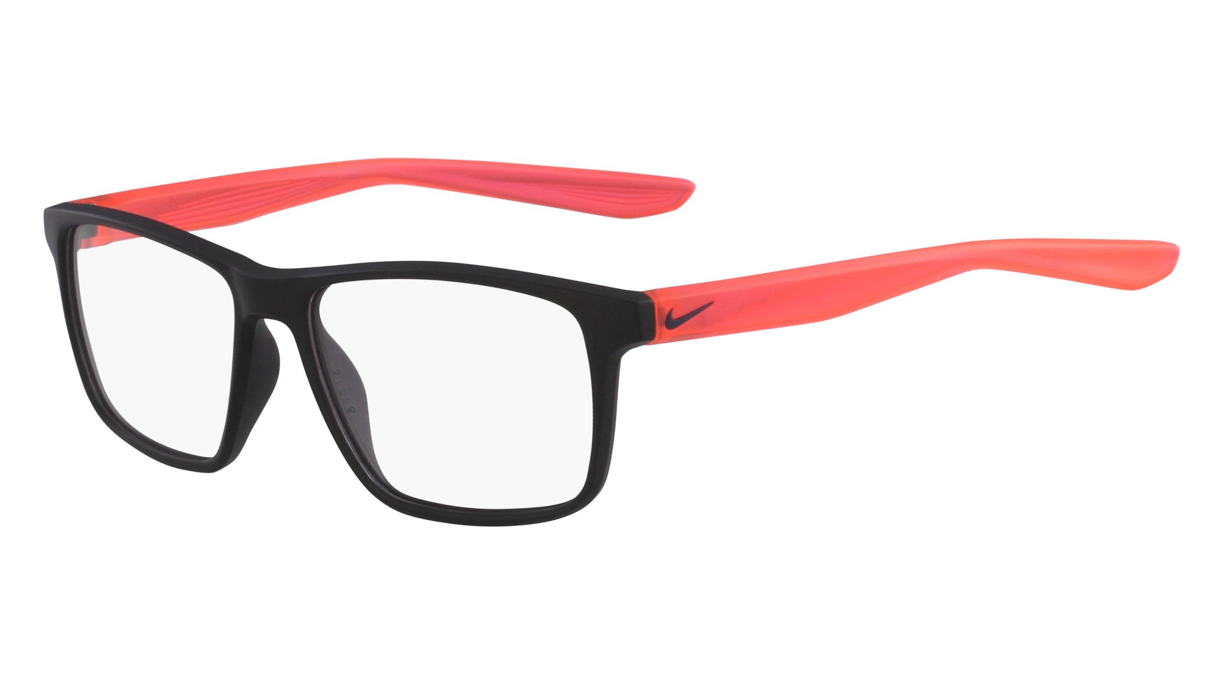0ff9ddda16a Nike 5002-002 Kids Eyeglasses Matte Black Solar Red Nike5002-002 - Optiwow