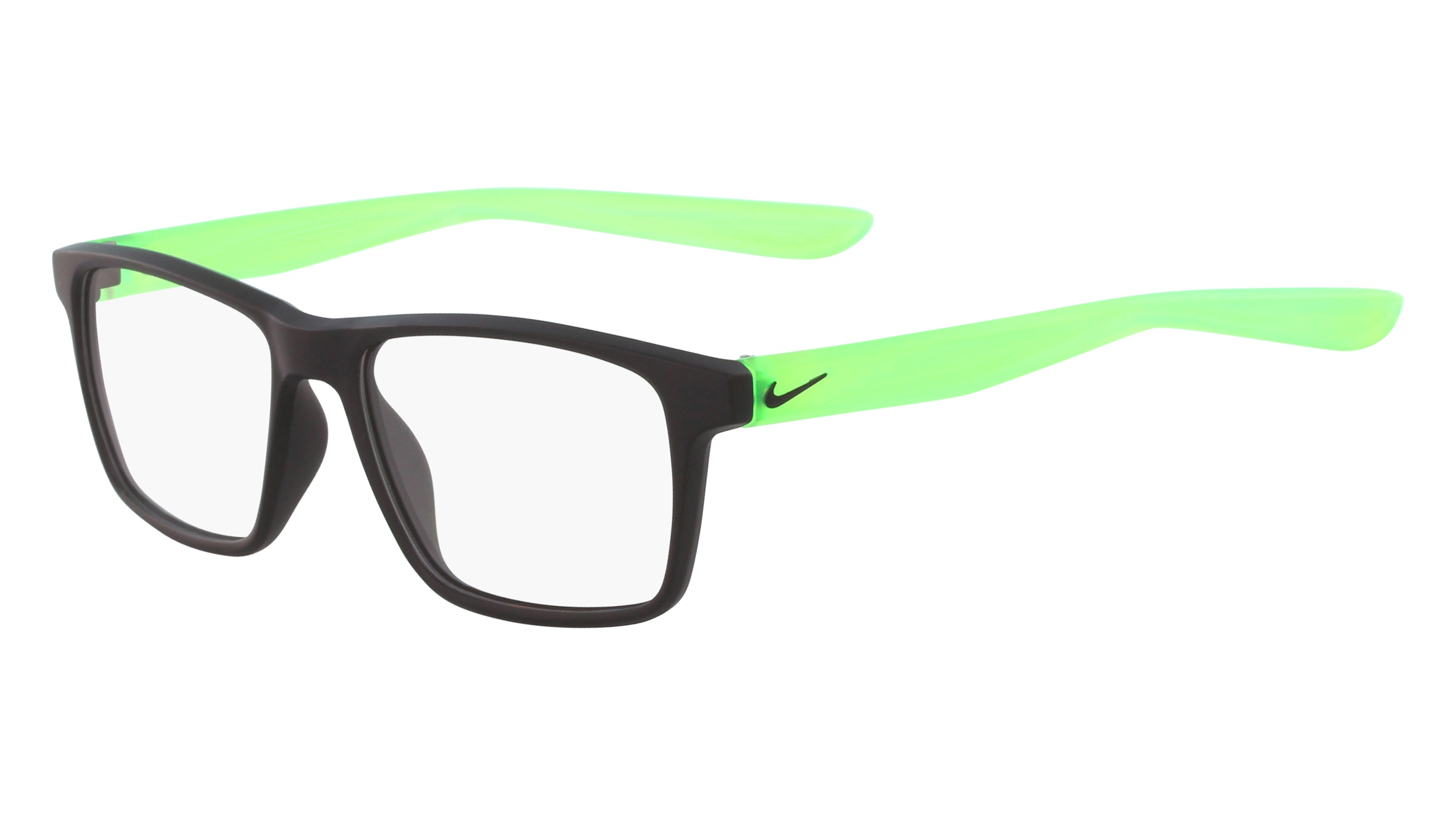 e6daa0d1235f Nike 5002-003 Kids Eyeglasses Matte Black Green Nike5002-003 - Optiwow