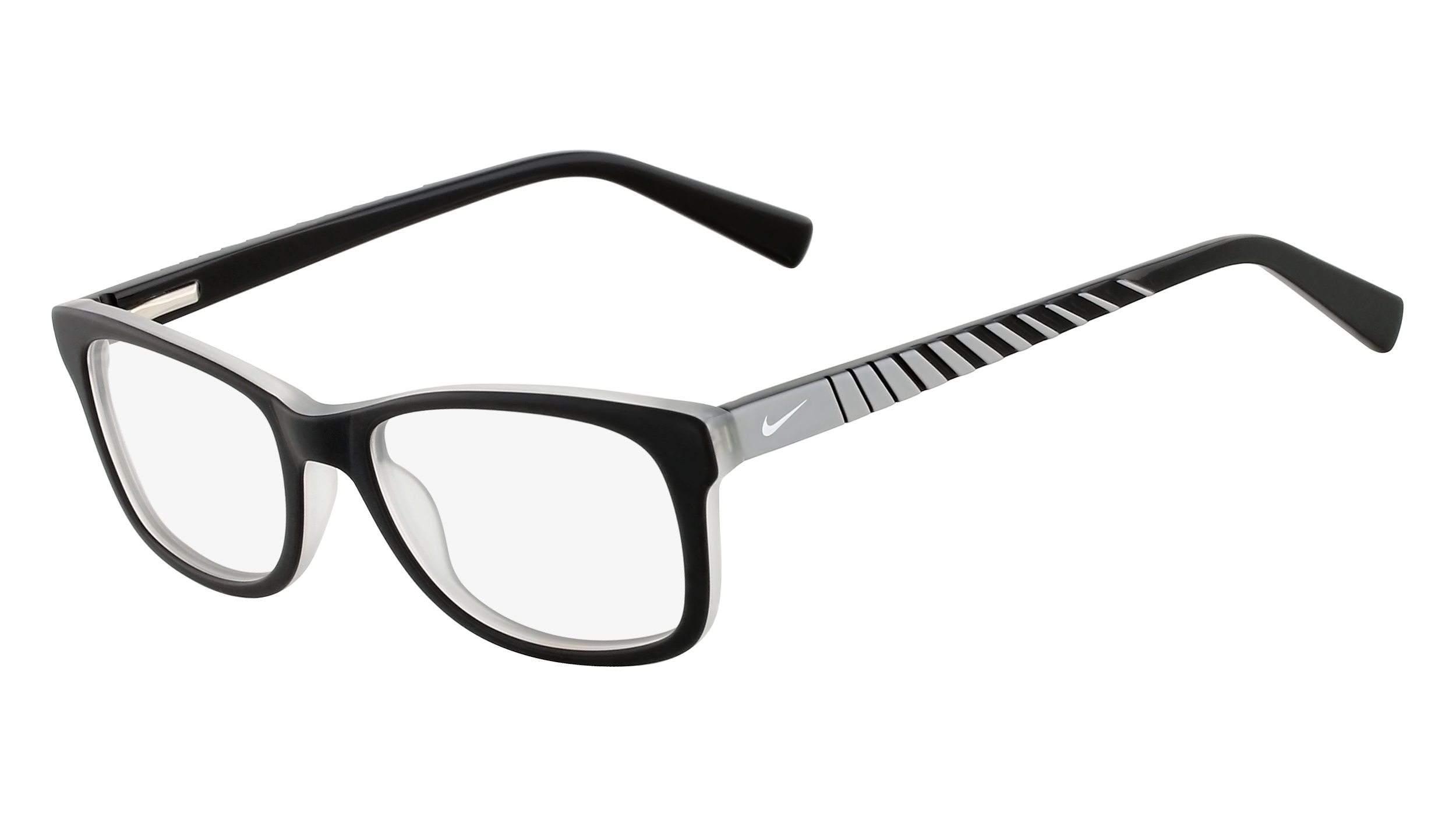 4383b75a846e Nike 5509-018 Kids Eyeglasses Satin Black Grey Nike5509-018 - Optiwow