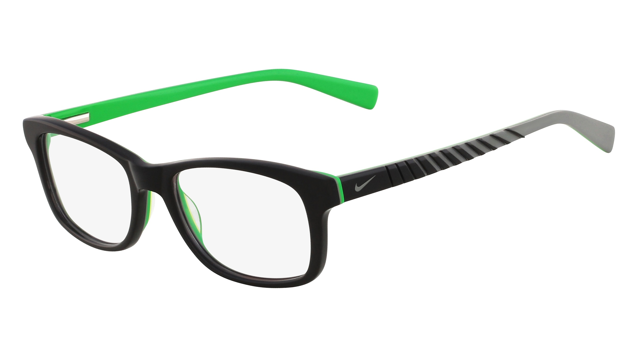 8dc93c6dc150 Nike 5509-025 Kids Eyeglasses Black Cool Grey Nike5509-025 - Optiwow