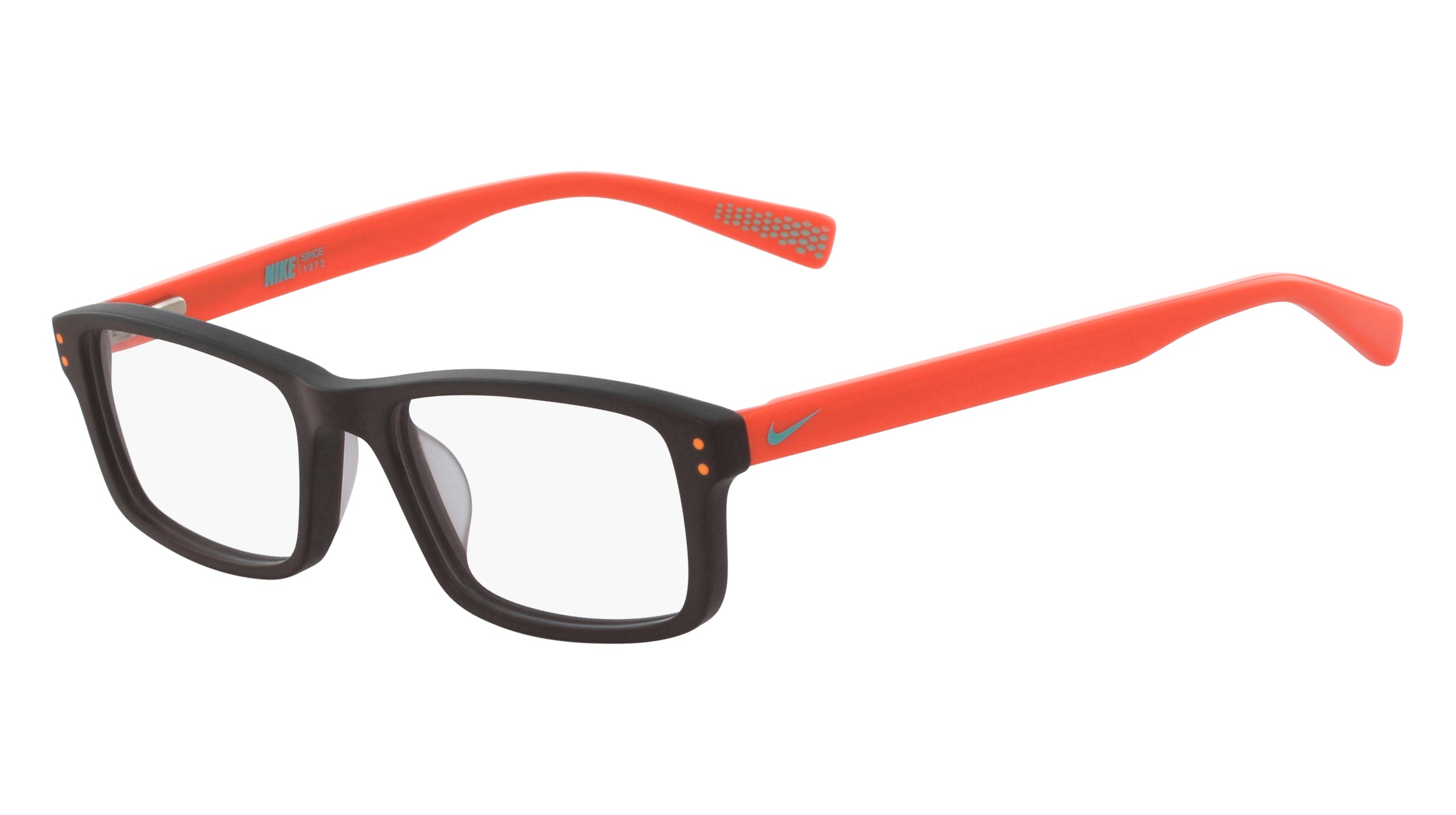 751fc6575f8 Nike 5537-210 Kids Eyeglasses Baroque Brown Total Orange Nike5537-210 -  Optiwow