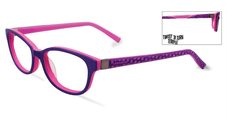 66c1c7270adb Converse Kids Eyeglasses K022 Purple Converse K022 PU - Optiwow