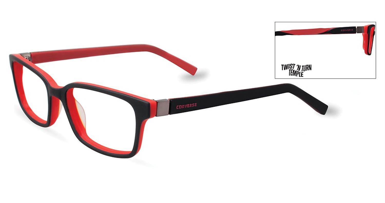 9bf29886fb2 Converse Kids Eyeglasses K020 Black Converse K020 BK - Optiwow