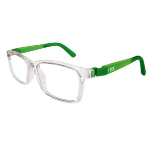 Nano NAO571344 Crew Kids Eyeglasses Crystal/Glowing Green Eye Size 44-16