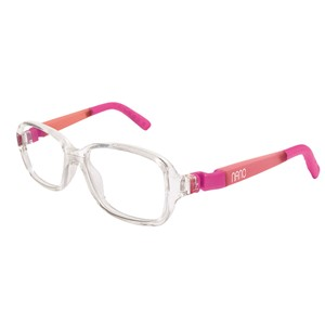 Nano NAO50102 Re-Play Kids Eyeglasses Crystal/Glowing Pink Eye Size 44-15