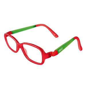 Nano NAO50104 Re-Play Kids Eyeglasses Red Trans/Glowing Green Eye Size 44-15