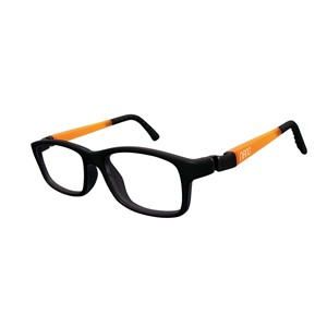 Nano NAO571446 Crew Kids Eyeglasses Matt Black/Glowing Orange Eye Size 46-17