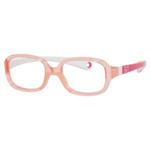 Kids By Safilo Sa0002 Eyeglasses Pink White 0GUE