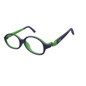 Nano NAO51842 Popping Kids Eyeglasses Blue/Lime Eye Size 42-15