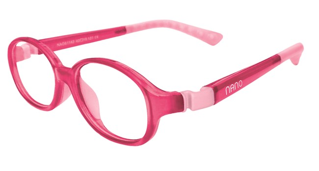 Nano NAO51342 Popping Kids Eyeglasses Pink/Pink Eye Size 42-15