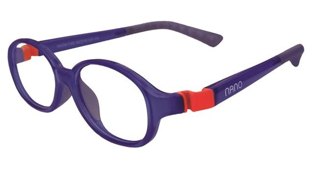 Nano NAO51542  Popping Kids Eyeglasses Marine/Red Eye Size 42-15
