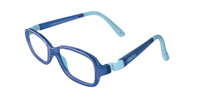 Nano NAO50138 Re-Play Kids Eyeglasses Blue/Blue Eye Size 44-15