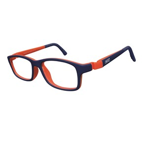 Nano NAO57144 Crew Kids Eyeglasses Mt Blue Marine/Orange Eye Size 44-16