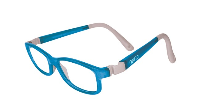 Nano NAO50234 Game-Over Kids Eyeglasses Light Blue/Grey Eye Size 46-17