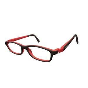 Nano NAO50310 Game-Over Kids Eyeglasses Black/Red Eye Size 48-17