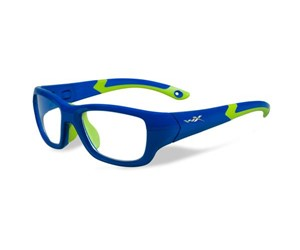 Wiley X Youth Force WX Flash YFFLA02  Eyeglasses Royal Blue/Lime Green