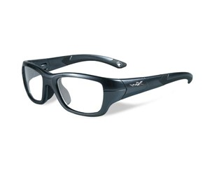 Wiley X Youth Force WX Flash YFFLA03  Kids Sports Glasses Graphite/Black