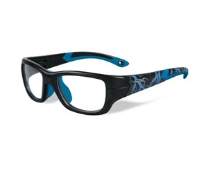 Wiley X Youth Force WX Flash YFFLA04  Eyeglasses Matte Black/Electric Blue