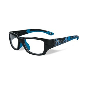 Wiley X Youth Force WX Flash YFFLA04  Kids Sports Glasses Matte Black/Electric Blue