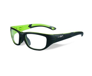Wiley X Youth Force WX Victory YFVIC02 Eyeglasses Matte Black/Lime Green