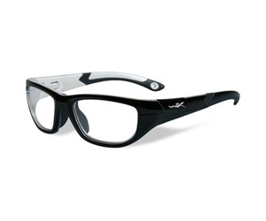 Wiley X Youth Force WX Victory YFVIC03 Eyeglasses Gloss Black/Aluminum Pearl