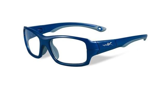 Wiley X Youth Force WX Fierce YFFIE01 Eyeglasses Matte Blue Indigo/Grey