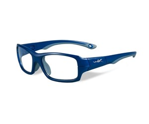 Wiley X Youth Force WX Fierce YFFIE01 Kids Sports Glasses Matte Blue Indigo/Grey