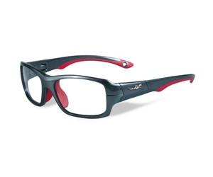 Wiley X Youth Force WX Fierce YFFIE02 Eyeglasses Dark Silver/Red
