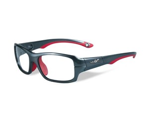 Wiley X Youth Force WX Fierce YFFIE02 Kids Sports Glasses Dark Silver/Red