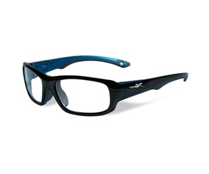 Wiley X Youth Force WX Gamer YFGAM02 Eyeglasses Gloss Black/Metallic Blue