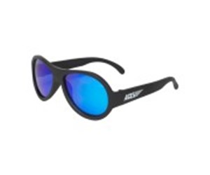 Babiators Aviator Junior BAB-049 Baby Sunglasses Polarized Black Ops Black with Cool Blue Lenses