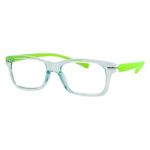 iGreen V2.7-C16 Kids Eyeglasses Shiny Aqua Marine/Matt Acid Green