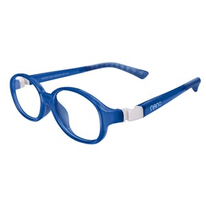 Nano NAO511042  Popping Kids Eyeglasses Blue/White Eye Size 42-15