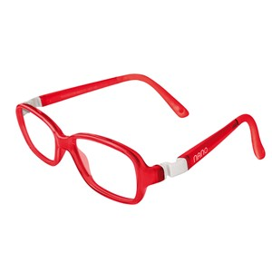 Nano NAO50124 Re-Play Kids  Eyeglasses Red/White Eye Size 44-15