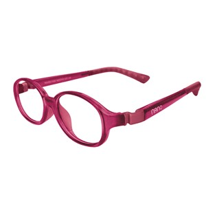 Nano NAO51944 Popping Kids Eyeglasses Burgundy/Burgundy Eye Size 44-15