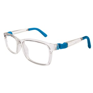 Nano NAO571146 Crew Kids Eyeglasses Crystal/Blue Cyan Eye Size 46-17