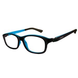 Nano NAO521146 Arcade Kids Eyeglasses Black/Blue Eye Size 46-17