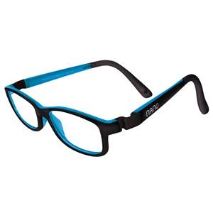 Nano NAO50311 Game-Over Kids Eyeglasses Matt Black/Blue Eye Size 48-17