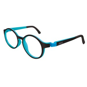 Nano NAO600544 Breakout Kids Eyeglasses Black/Sky Blue Eye Size 44-16