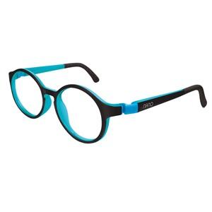 Nano NAO600546 Breakout Kids  Eyeglasses Black/Sky Blue Eye Size 46-17