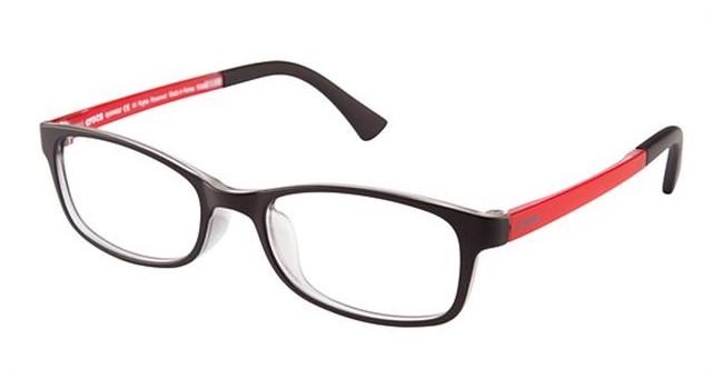 Crocs JR036 Kids Eyeglasses Black/Red 20RD
