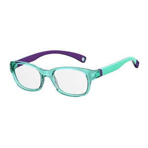 Kids By Safilo Sa0007 Eyeglasses Dk Green Violet 0BMC