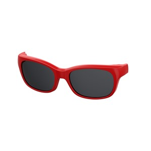 Kids By Safilo Sa0007 Eyeglasses Clip Only Polarized Red 0C9A