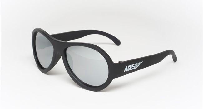 Babiators Aviator ACE-001 Sunglasses Black Ops Black Mirrored Lenses