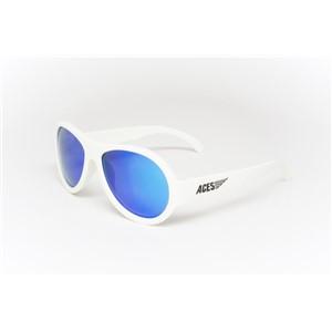 Babiators Aviator ACE-003 Childrens Sunglasses Wicked White Blue Lenses