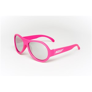 Babiators Aviator ACE-005 Childrens Sunglasses Popstar Pink Mirrored Lenses